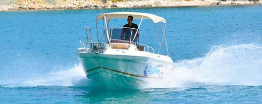 Ranieri Voyager 22 | The Big Blue Boat Rental Zakynthos Greece