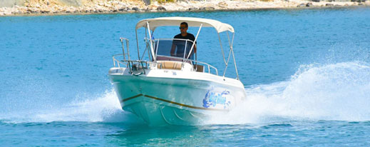 Ranieri Voyager 22 | The Big Blue Boat Rental Zakynthos Greece